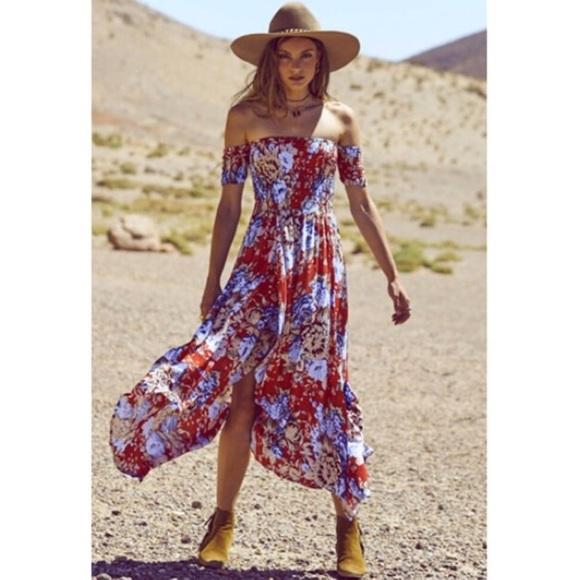 5b7278202d22 auguste Dresses   Skirts - Auguste The Label Boheme Goddess Maxi Dress Red